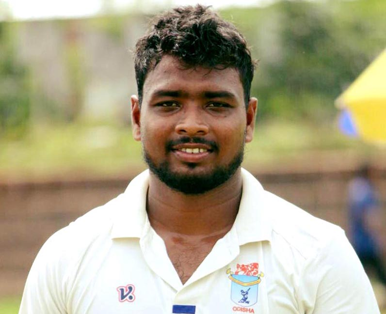 File photo of Odisha pace bowler Suryakanta Pradhan