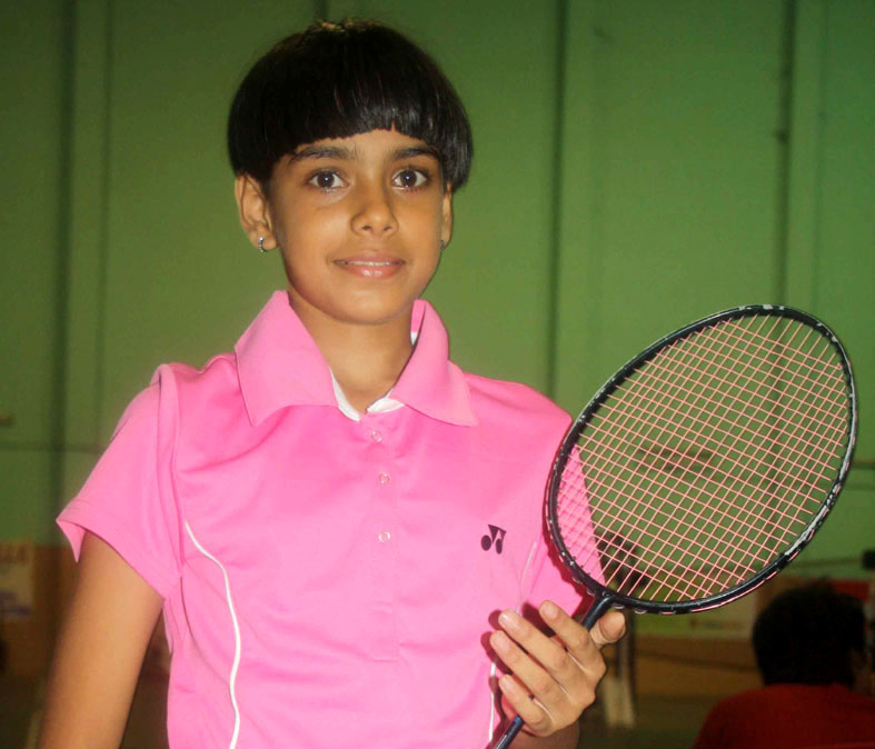 File photo of Odisha international shuttler Rutaparna Panda.