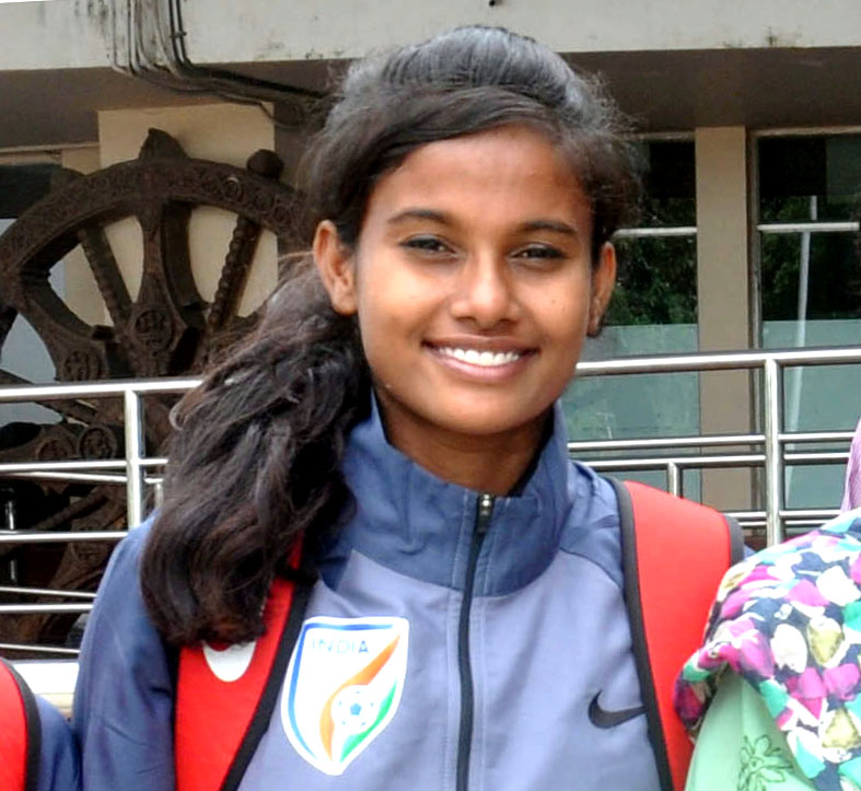 File photo of Odisha international woman footballer Bannya Kabiraj
