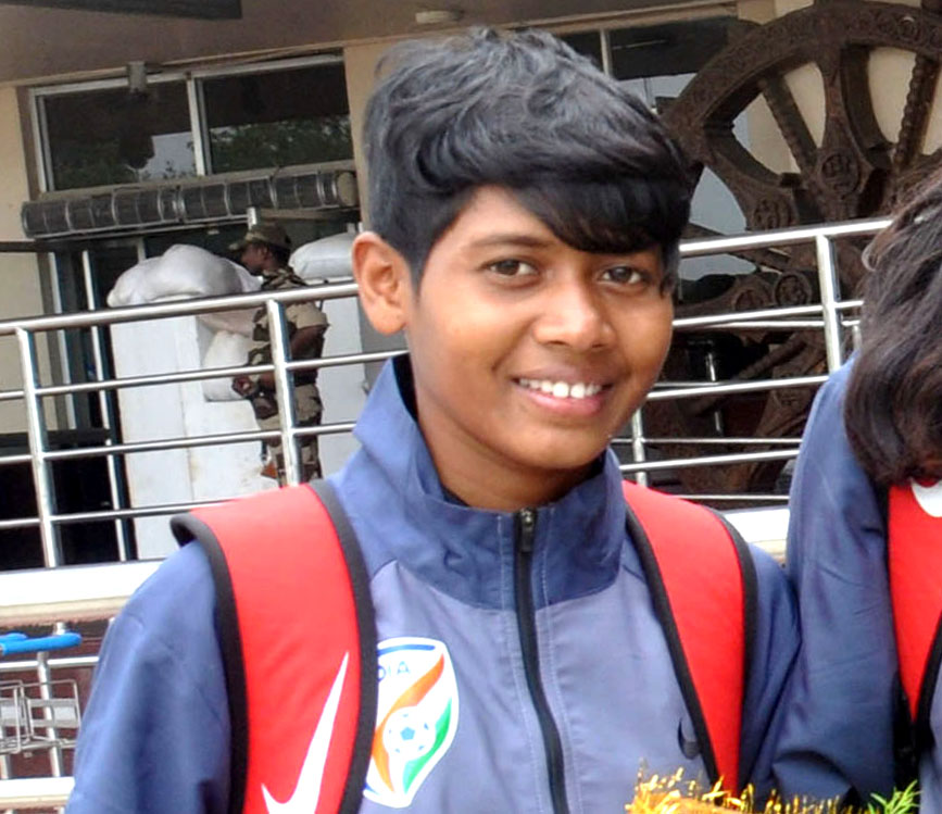 File photo of Odisha international woman footballer Eva Panna