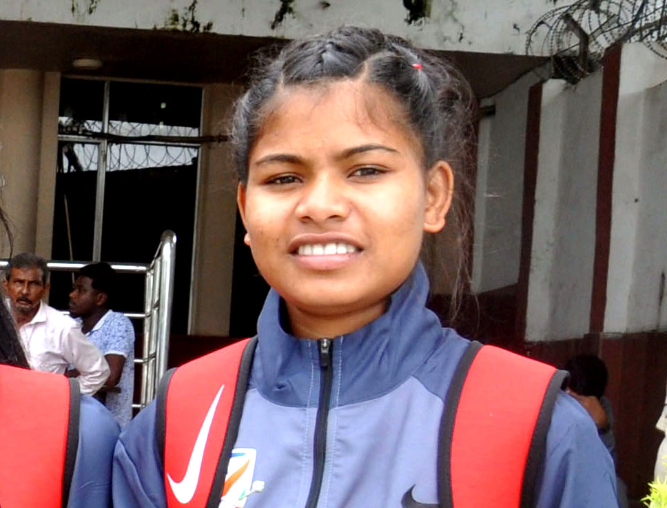 File photo of Odisha international woman footballer Susmita Tanty