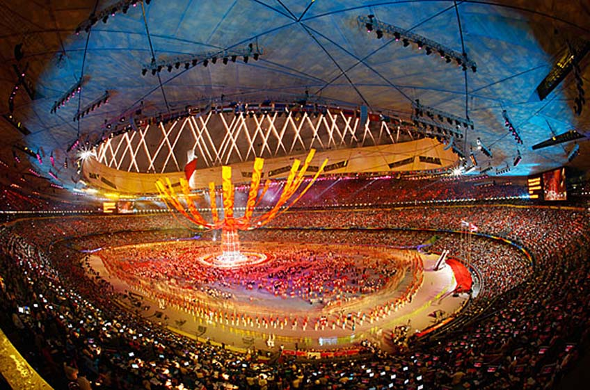 A view of the closing ceremony of the Beijing Olympic Games in Beijing on August 24, 2008.