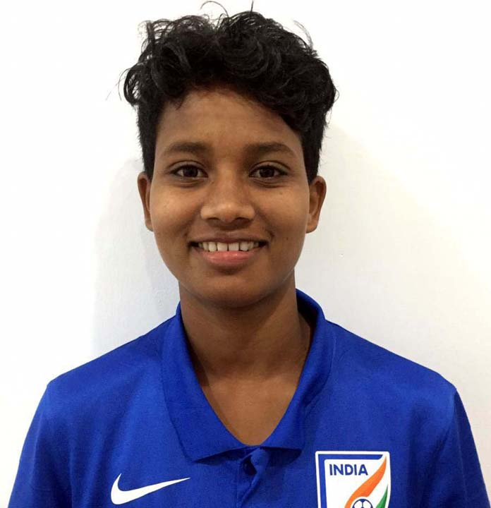 File photo of Odisha woman football international Jabamani Tudu.
