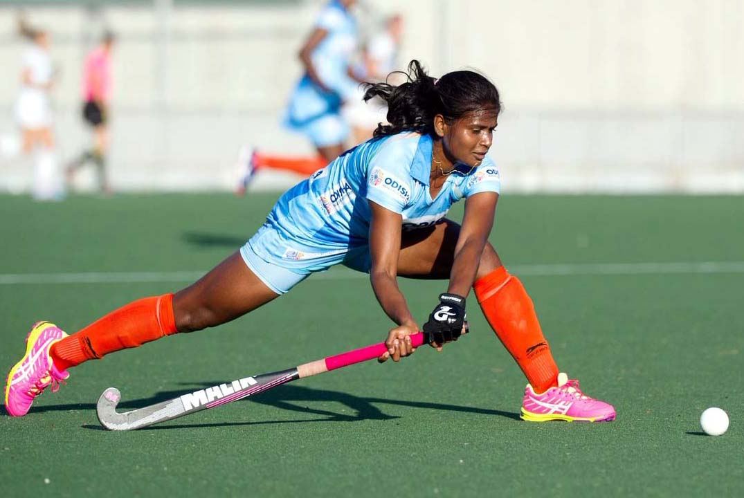 Action photo of Odisha woman hockey international Sunita Lakra