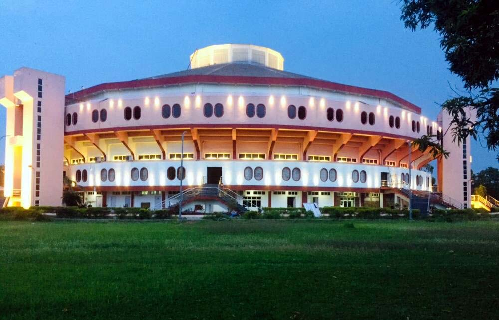 View of the Jawaharlal Nehru Indoor Stadium, Cuttack, which gets ready to stage the Commonwealth Table Tennis Championship in July 2019.