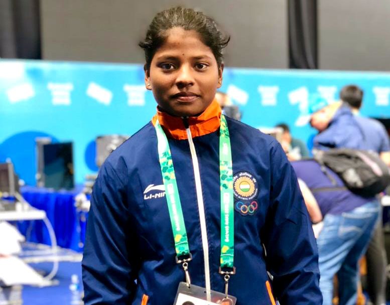File photo of Odisha woman weightlifter Sneha Soren