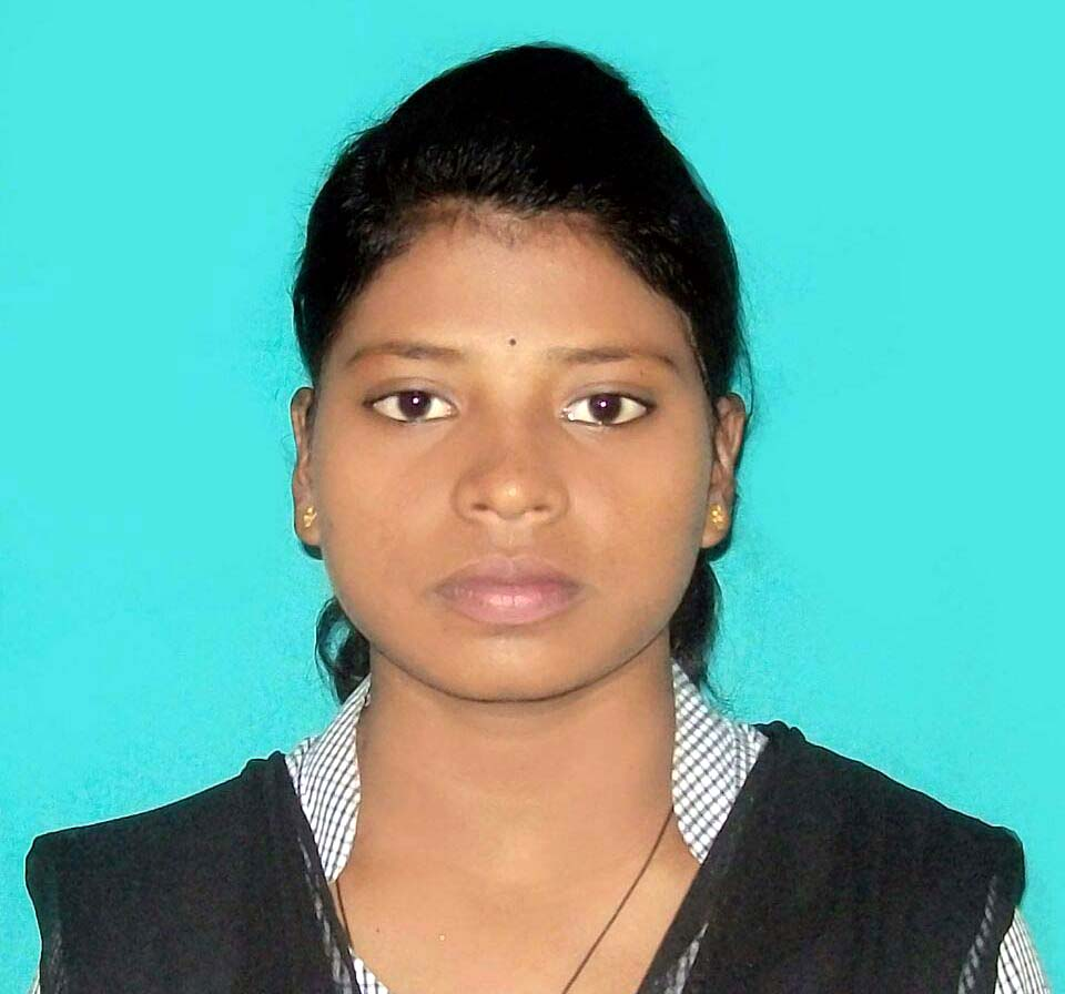File photo of Odisha woman weightlifter Sneha Soren in academic uniform.