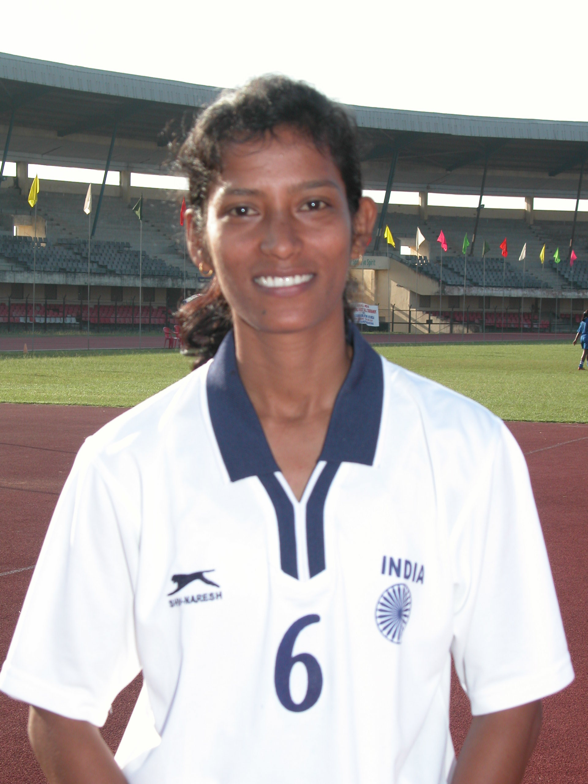 Woman football star Sradhanjali Samantaray