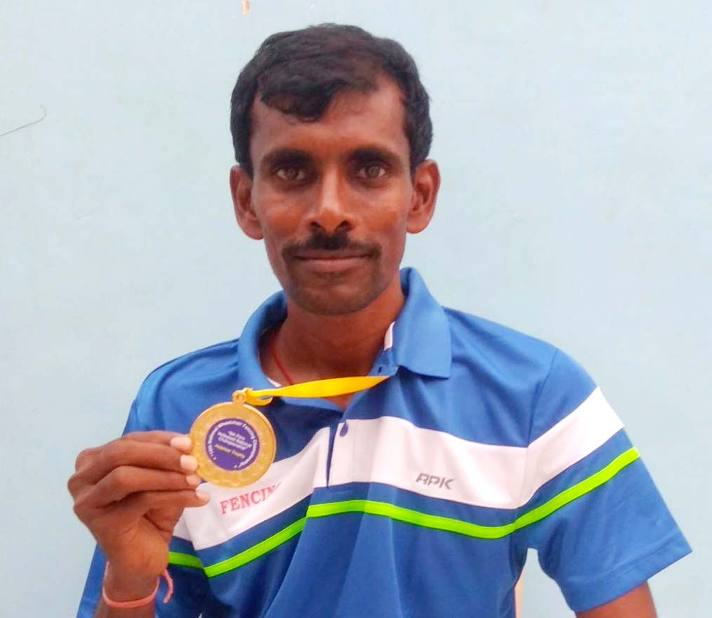 File photo of Odisha wheelchair fencer V Ramesh Rao