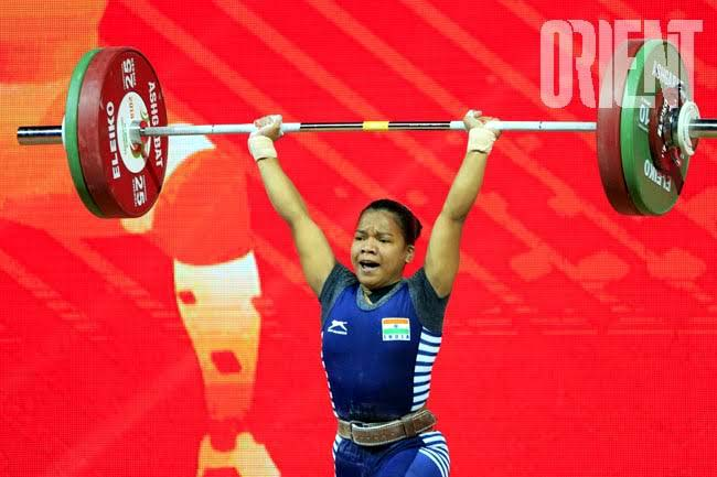 File photo of Odisha weightlifter Jhilli Dalabehera in action.