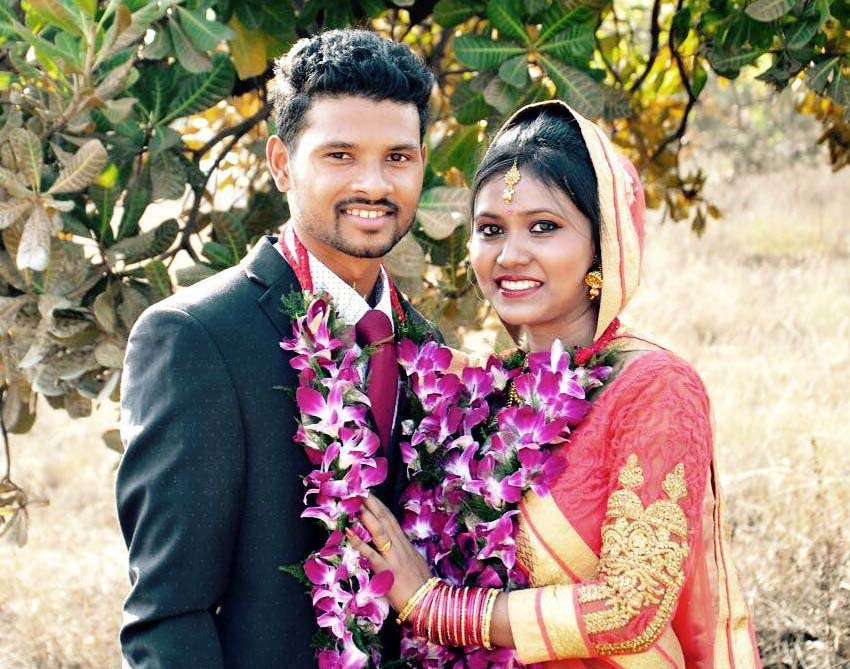 File photo of Odisha hockey international Birendra Lakra with his wife Rashmita Kerketta.