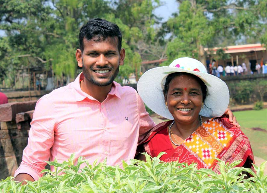 File photo of Odisha and India hockey star Amit Rohidas with his mother Gulapi Rohidas.