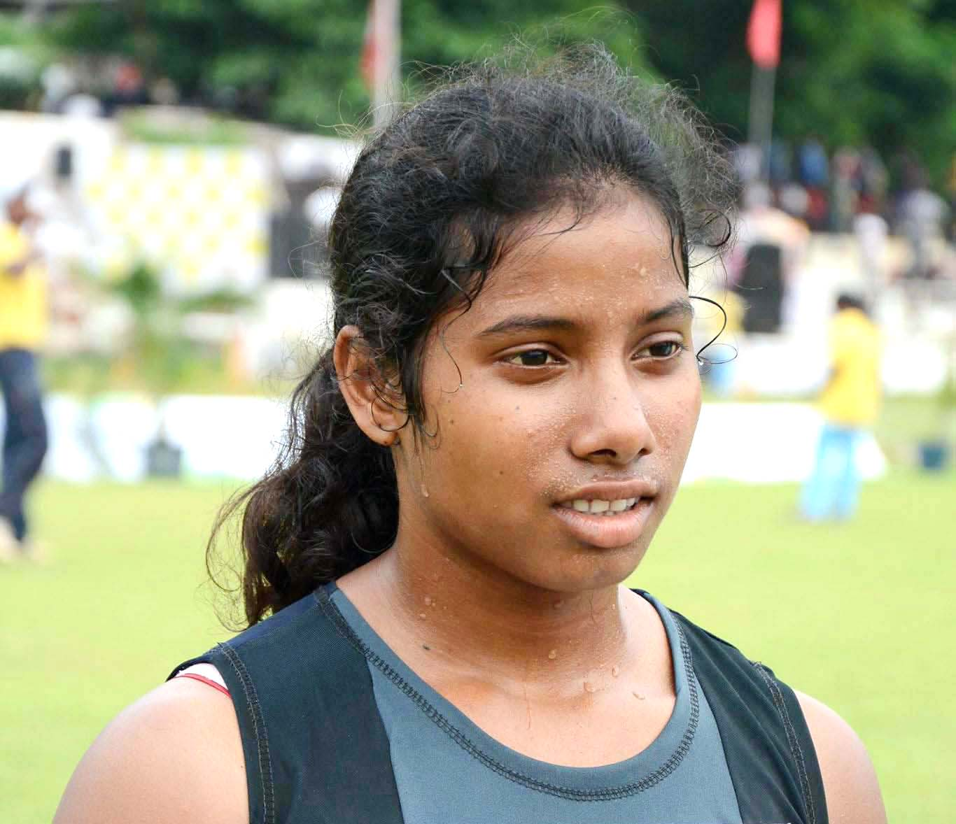Undated file photo of Odisha woman long jumper Manisha Merel.