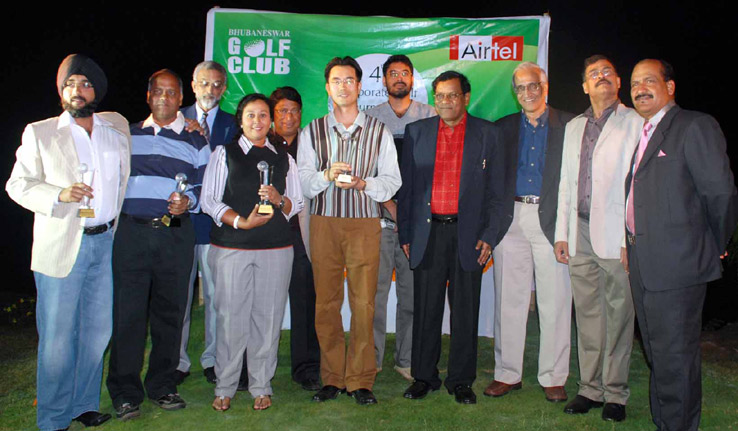 Prize winners and guest of the 4th BGC Corporate Golf Tournament in Bhubaneswar on Nov 29, 2008.