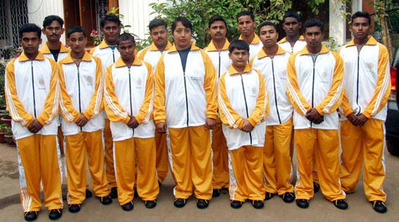 Orissa taekwon-do squad in Bhubaneswar on 25th Dec. 2008