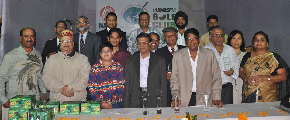 Prize winners and guests at the presentation party of the 6th Naloco East Zone Golf Tournament in Bhubaneswar on Jan 25, 2009.