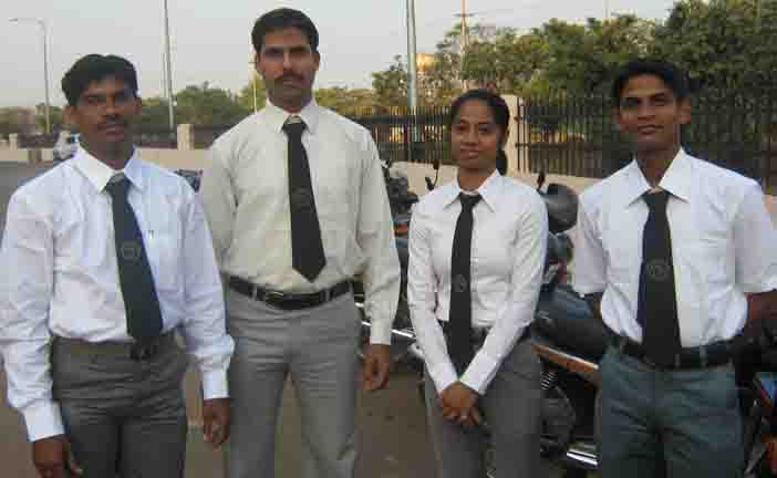 Karatekas (Left to right) Santosh Moharana, Satyashree Jena, Ipsita Pande and Tofan Badatia at the State cash incentive function in Bhubaneswar on Jan 23, 2009.