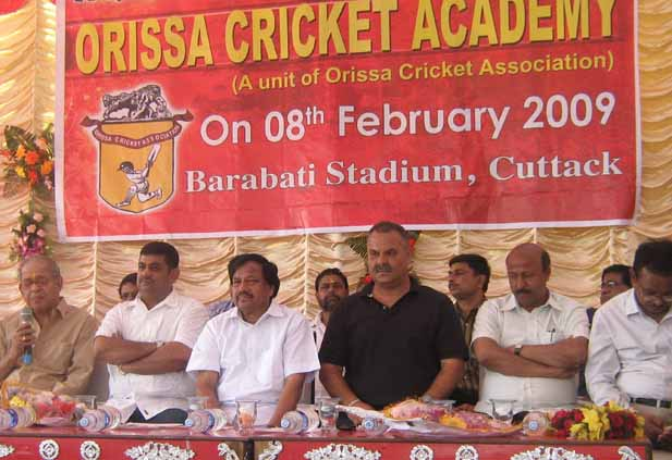 NCA Director Dav Whatmore at the inauguration ceremony of the Orissa Cricket Academy in Cuttack on 8th February, 2009.
