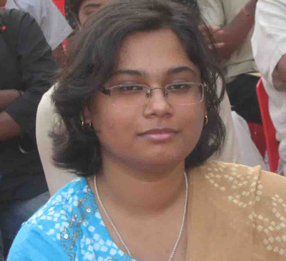 Chess WIM Kiran Manisha Mohanty at the State cash incentive function in Bhubaneswar on Jan 23, 2009.