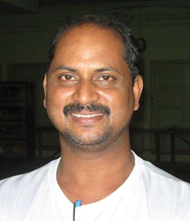 Sports journalist <b>Sanjib Biswal </b>in Bhubaneswar on March 27, 2009.
