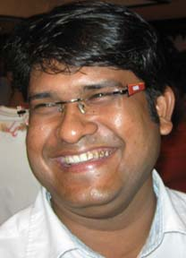 Orissa spinner <b>Saroj Barik </b>in Bhubaneswar on April 26, 2009.