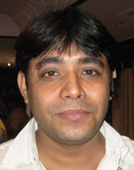 Orissa spinner <b>Satya Ranjan Satpathy </b> in Bhubaneswar on April 26, 2009.