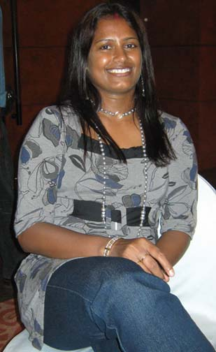 Former Indian Footballer <b>Ranjita Mohanty</b> at Bhubaneswar, on May 9, 2009