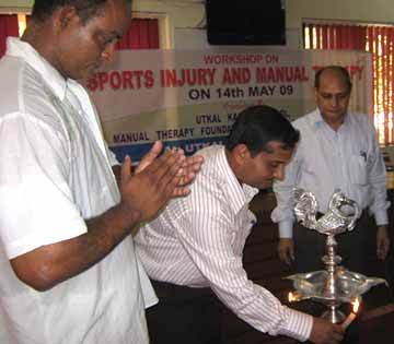 A workshop on sports injury and manual therapy is being inagurated at Bhubaneswar on <b>May 14, 2009.