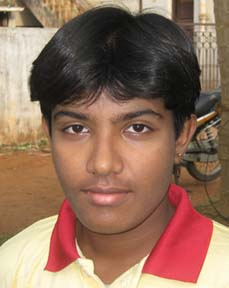 Orissa woman cricketer <b>Priyanka Priyadarshini Sahoo </b>in Bhubaneswar on <b>May 16, 2009.