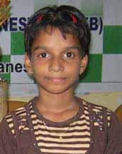 State under-9 girls` chess champion <b>Adyasha Pattanik </b>at Bhubaneswar in <b>April, 2009.