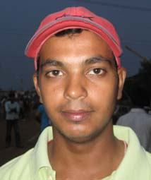 Orissa cricketer <b>Payas Ranjan Sinha</b> in Bhubaneswar on <b>May 24, 2009.