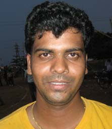 Orissa cricketer <b>Rakesh Mohanty</b> in Bhubaneswar on <b>May 24, 2009.
