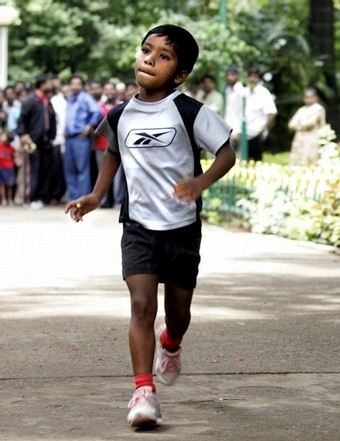 File photo of long distance child runner <b>Budhia Singh.