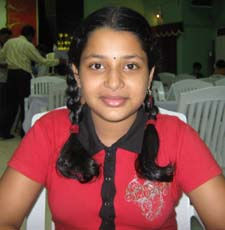 Orissa chess player <b>Akankhya Kabi</b> in Bhubaneswar on <b>May 31, 2009.