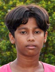 Orissa chess player <b>Smaraki Mohanty</b> in Bhubaneswar on <b>June 2, 2009.