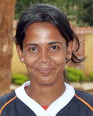 Orissa woman rugby international <b>Jasobanti Behera </b>in Bhubaneswar on <b>June 4, 2009.