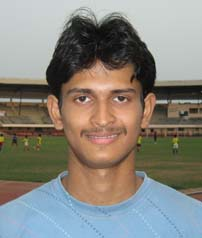 International sprinter <b>Amiya Kumar Mallick</b> in Bhubaneswar on <b>June 4, 2009.