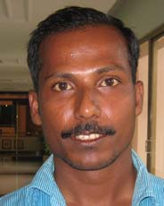 Television sports reporter <b>Niranjan Reddy</b> in Bhubaneswar on <b>June 6, 2009.