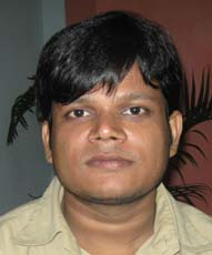 Orissa Fide Master <b>Soumya Ranjan Mishra</b> in Bhubaneswar on <b>June 10, 2009.