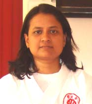 Orissa karateka <b>Gouri Mohanty</b> in Bhubaneswar on <b>June 22, 2009.