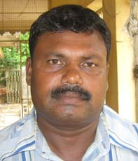 Orissa junior cricket coach and selector <b>Khirod Behera </b>in Bhubaneswar on <b>June 26, 2009.
