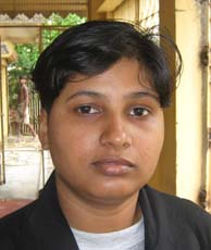 Orissa woman cricketer <b>Rajalaxmi Ray</b> in Bhubaneswar on <b>June 26, 2009.