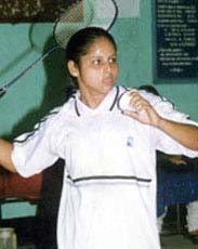 File photo of Orissa woman shuttler<b> Gayatri Mishra.