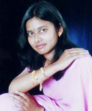 File photo of Orissa cricketer Debasis Mohanty`s wife <b> Ritimukta Das</b> before her marriage.