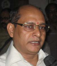 State Director of Sports <b>Prasant Kumar Pradhan </b>in Bhubaneswar on <b>July 8, 2009.