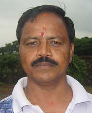 Orissa boxing coach <b>Sankar Prasad Adhikari</b> in Bhubaneswar on <b>July 13, 2009.