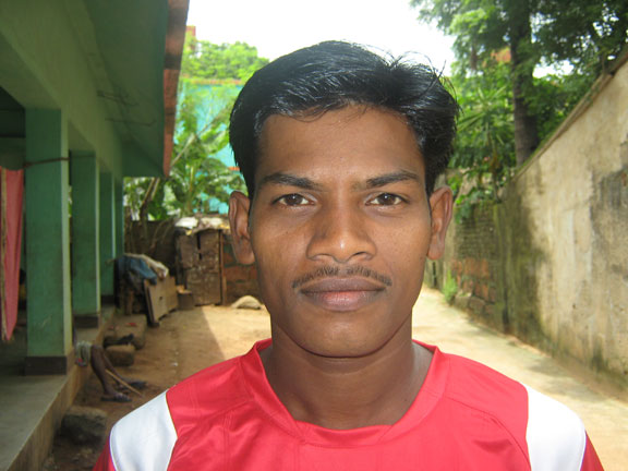 Orissa footballer <b>Kedarnath Singh</b> in Bhubaneswar on <b>July 22, 2009