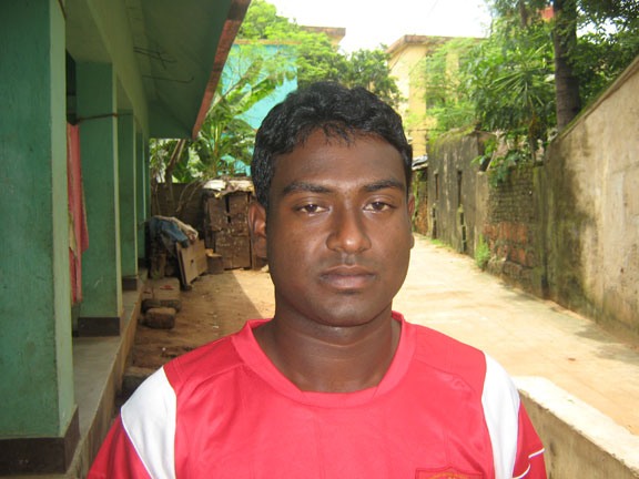 Orissa footballer <b>Sulku Hembram</b> in Bhubaneswar on <b>July 22, 2009