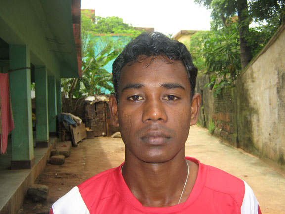 Orissa footballer <b>Khiradhar Say</b> in Bhubaneswar on <b>July 22, 2009