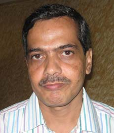 Orissa State Chess Association secretary <b>Smruti Ranjan Das</b> in Bhubaneswar on <b>July 29, 2009.